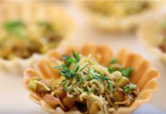 Canapes With Yellow Lentil Filling Recipe