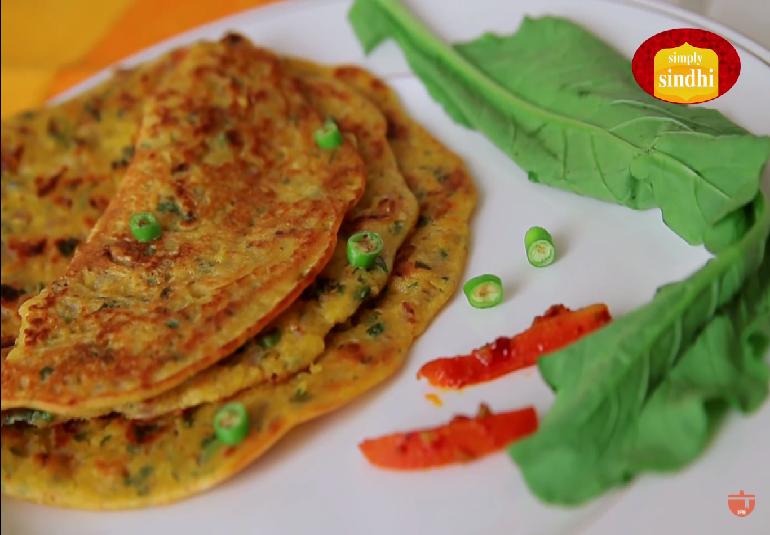 Sindhi Eggless Besan Omelette Recipe