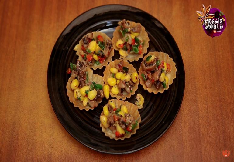 Corn & Mushroom Tarts