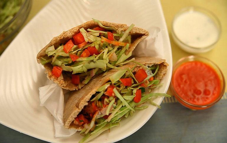 Falafal Sandwich by Asha Khatau