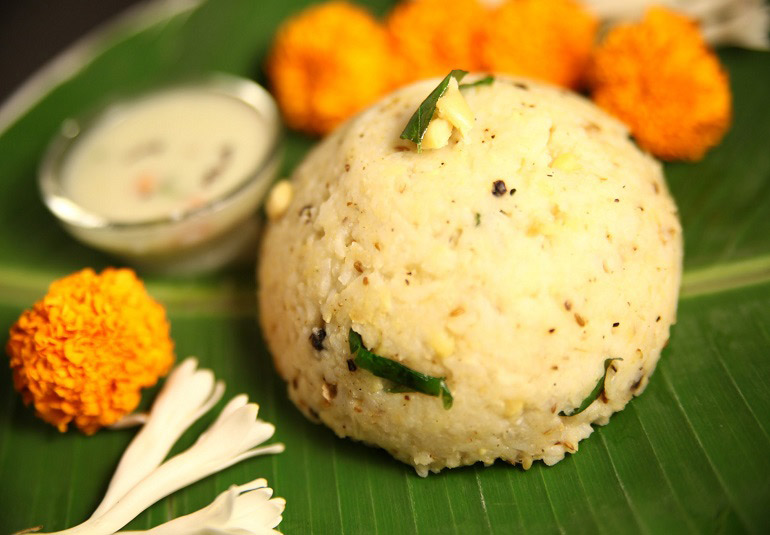 Ven Pongal (Savoury Rice Pudding) By Preetha