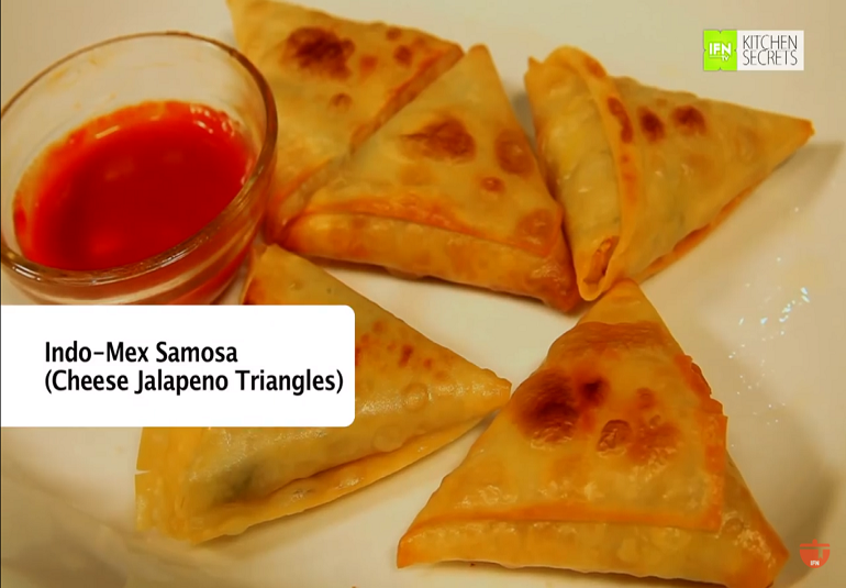 Cheese & Jalapeno Triangles (Cheese Samosa) By Maithily