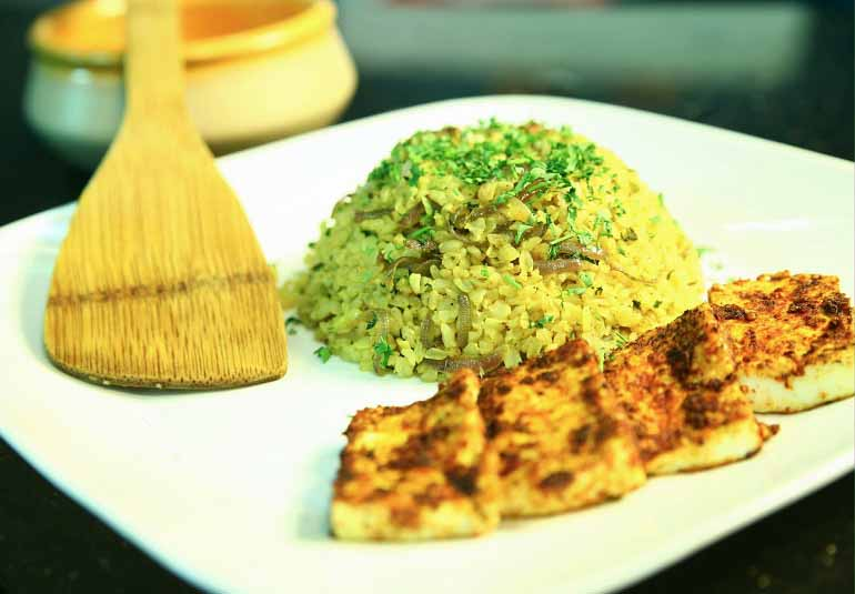 Cottage Cheese With Brown Rice By Maithily