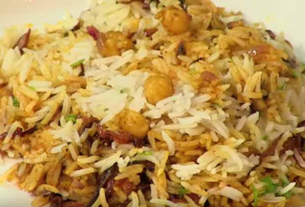 Chana Biryani (Chick Pea Rice)