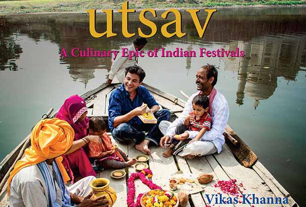 Indias star Chef Vikas Khanna launches his cookbook Utsav at Cannes