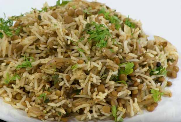 How to Make Masoor Pulav with ZERO OIL by Archana Arte