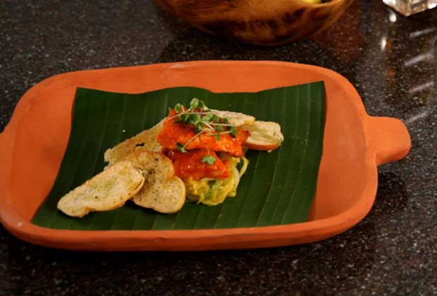 King Fish Ambotik With Poee Slivers & Mango Salsa