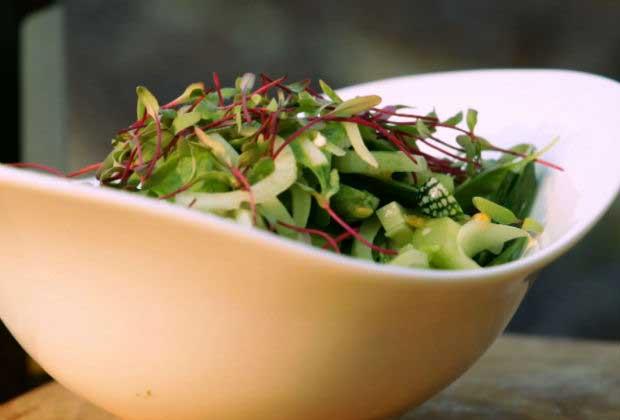 Crisp Green Salad With Maple & Passion Fruit Vinaigrette