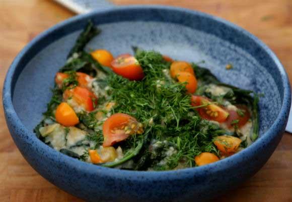 Healthy Oats & Kale Porridge