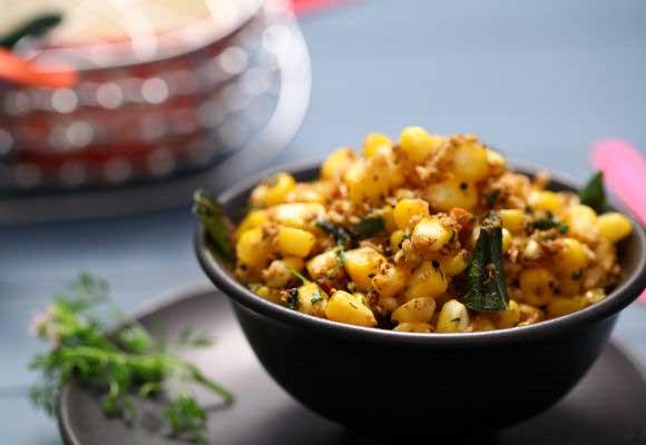 Sweet Corn Sundal With A Twist