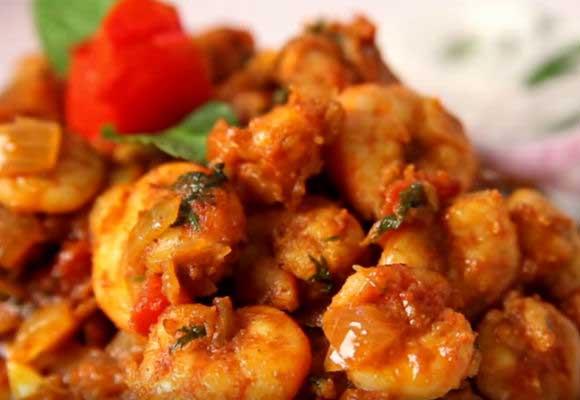 Spicy Prawns Masala
