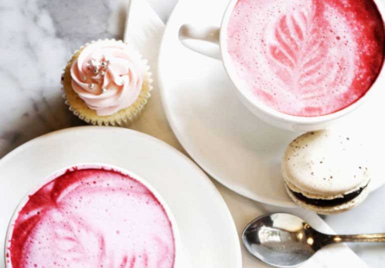 Photo Of The Day: Were Crushing On This Pink Latte By Le15 Patisserie!
