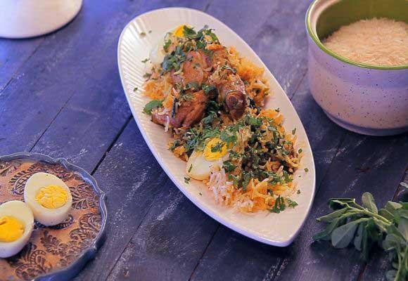 Methi Chicken Biryani