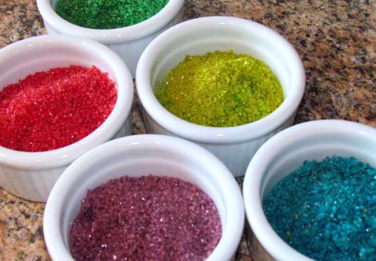 DIY Food: Colourful Sugar