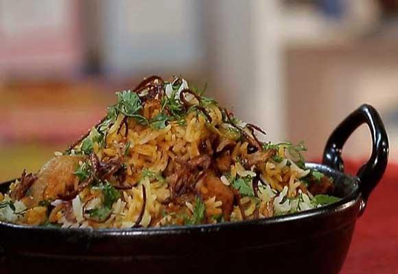 Goan Style Mushroom Soya Biryani