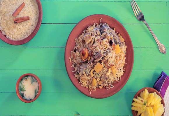 Pineapple Mutton Biryani