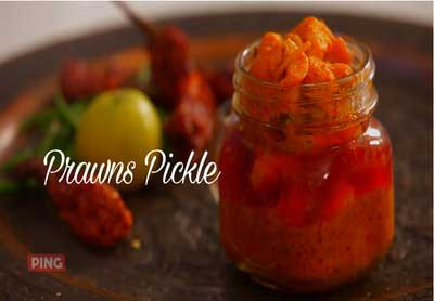 Spicy Prawn Pickle - Kolambiche Lonche