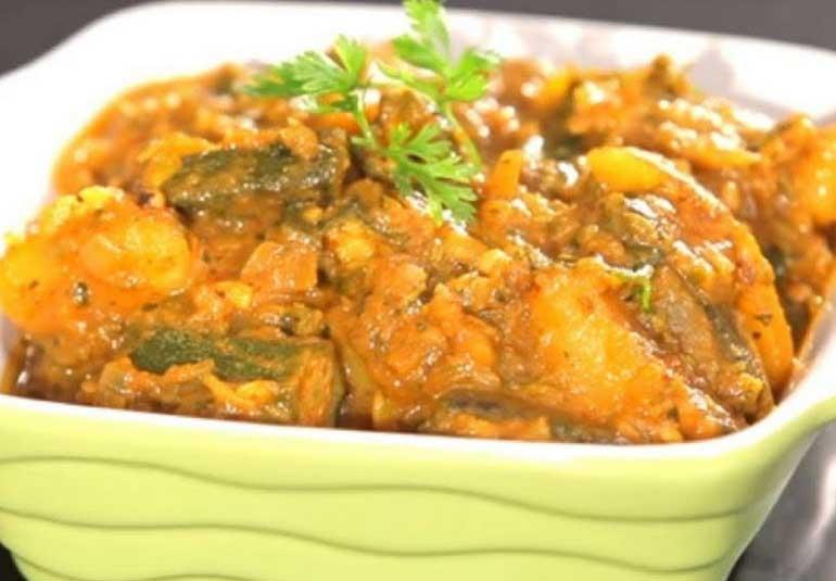 Spicy Aloo Bhindi Masala Recipe in Tamil