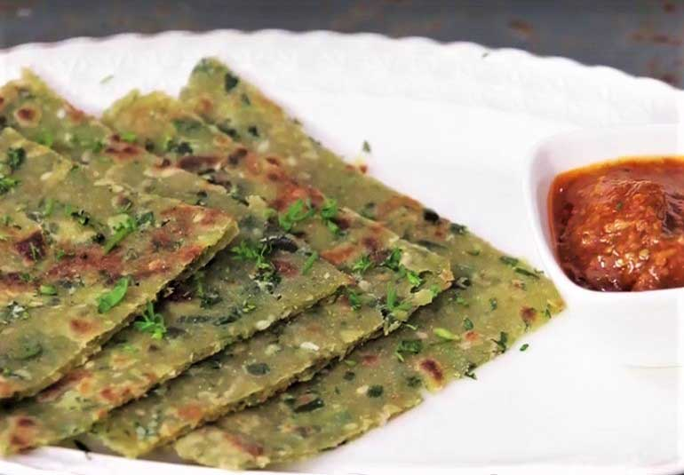 Aloo Methi Paratha Recipe in Marathi