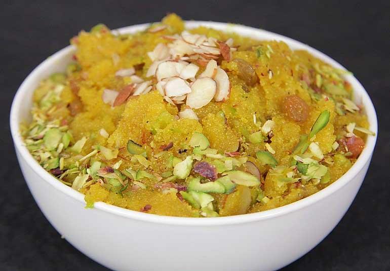 Classic Indian Dessert: Rava Sheera or Sooji Halwa Recipe in Punjabi