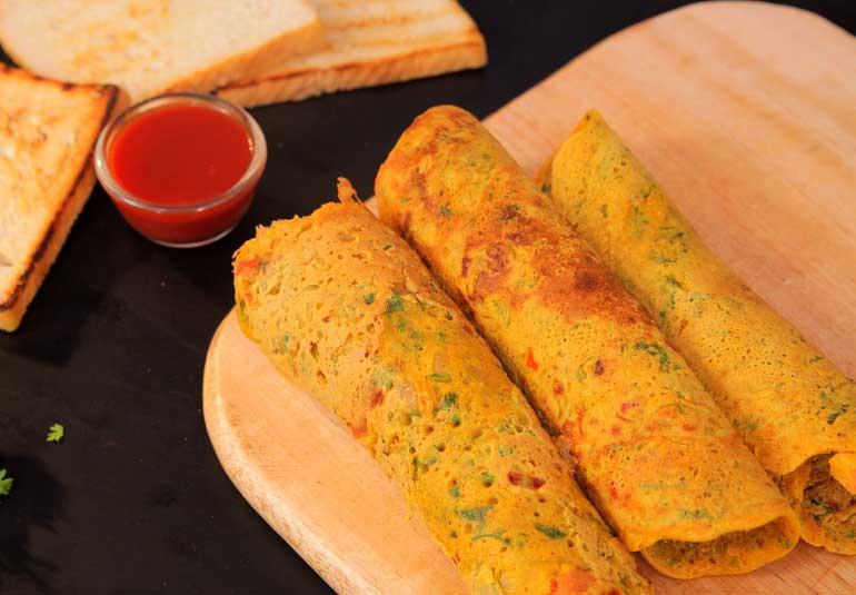 Veg Omelette By Roopa - Breakfast Recipe