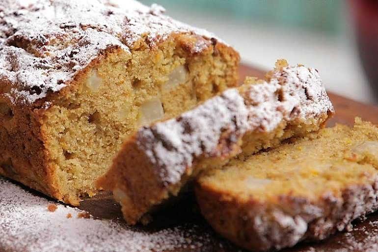 Pears & Oranges: Homemade Whole-Wheat Fruit Loaf