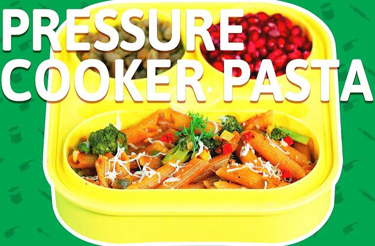 Veg Cheese Pasta - Pasta Recipe in Pressure Cooker