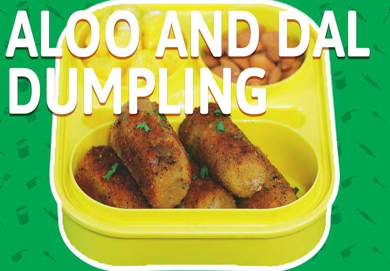 Aloo Dumplings with Chana Dal