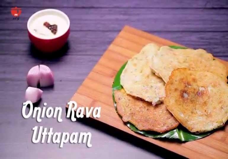 Instant Onion Uttapam Recipe