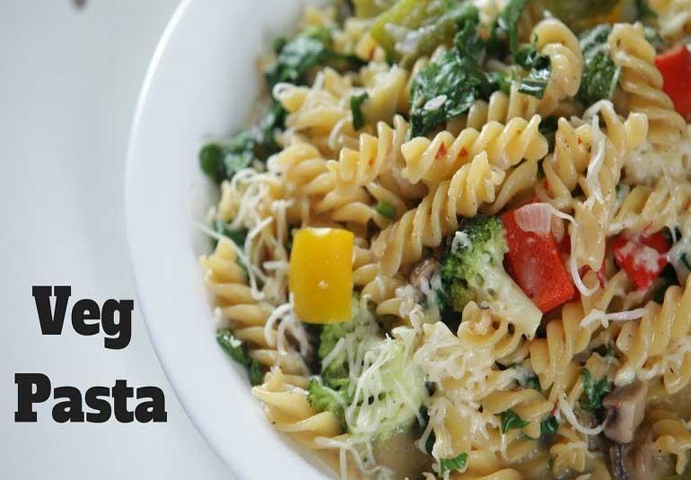 How To Make Veg Cheese Pasta | Indo Italian Pasta