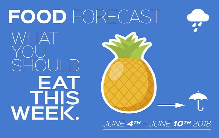 Food Forecast: June 4-10, 2018