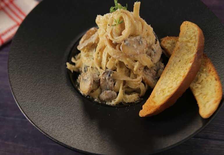 Mushroom Fettuccine Pasta