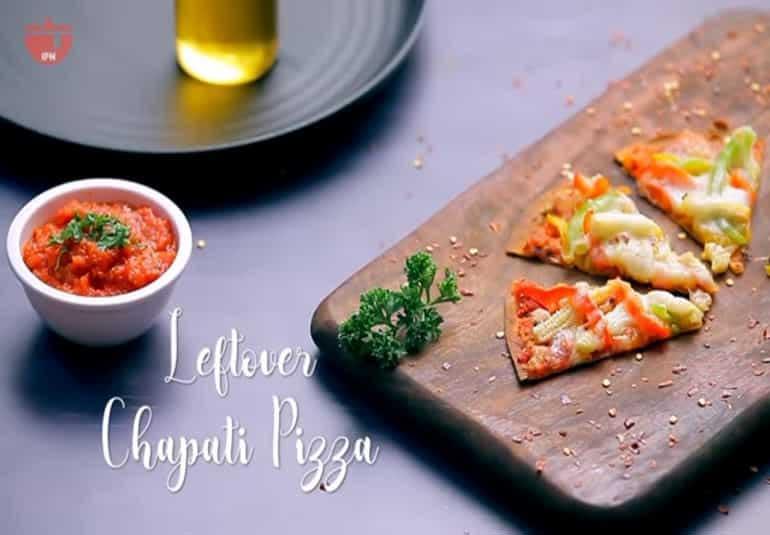 Chapati Pizza Recipe with Leftover Roti