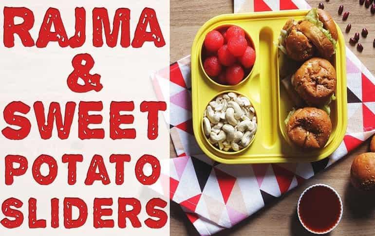 Rajma & Sweet Potato Burger
