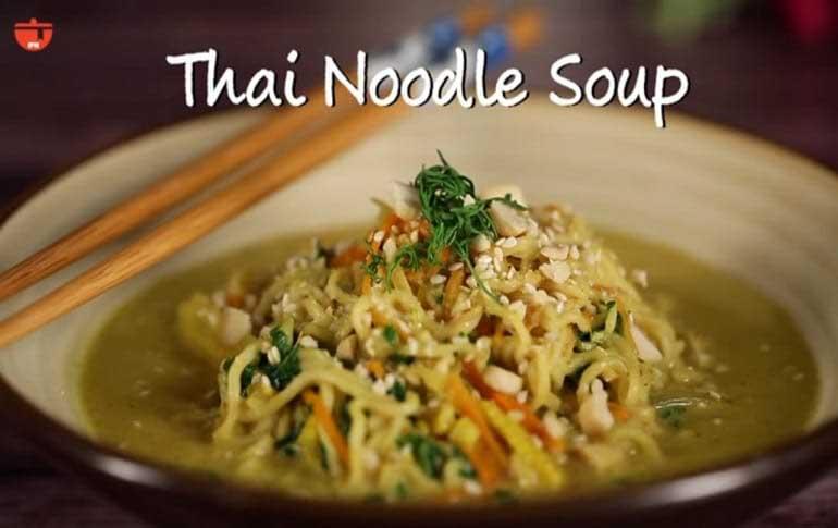 Vegetarian Thai Noodles Soup
