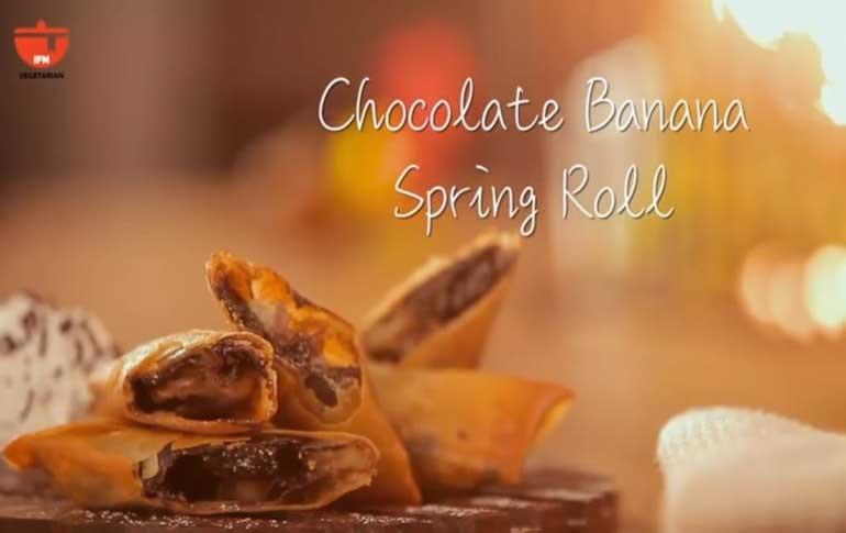 How To Make Chocolate Banana Spring Rolls