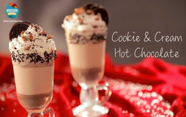 How To Make Oreo Cookies & Cream Hot Chocolate
