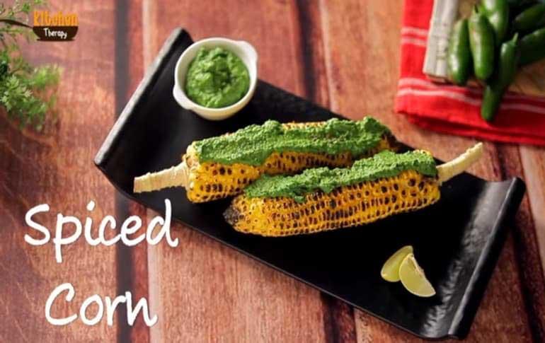Spiced Corn with Jalapeno Sauce Recipe