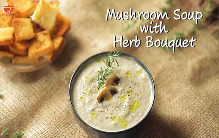 How To Make Creamy Mushroom Soup with Herbs