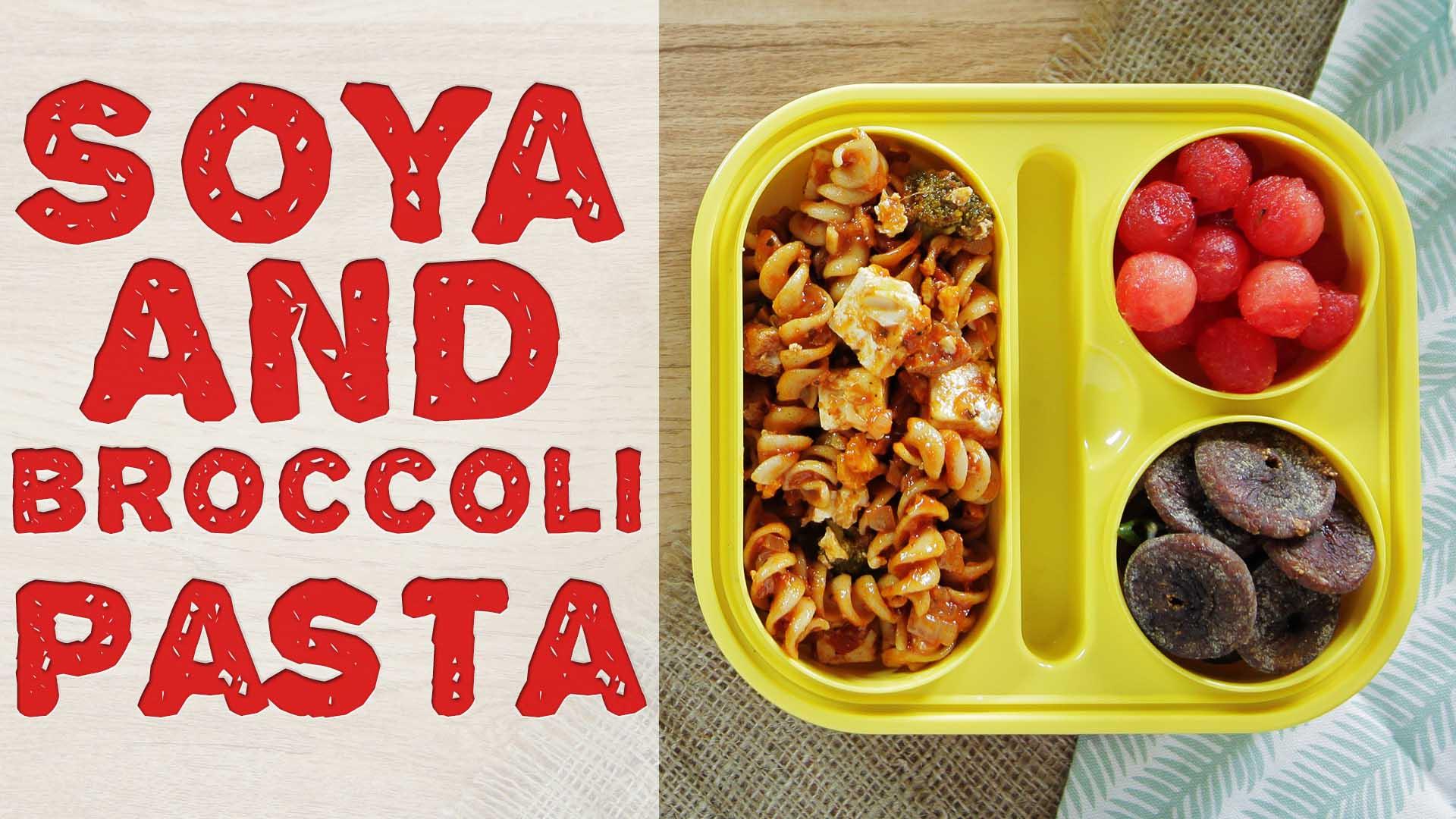 Soya and Broccoli Pasta