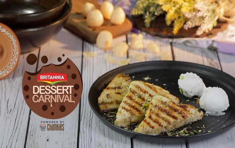 Dates & Lychee Stuffed Toast Recipe By Kamini Patel