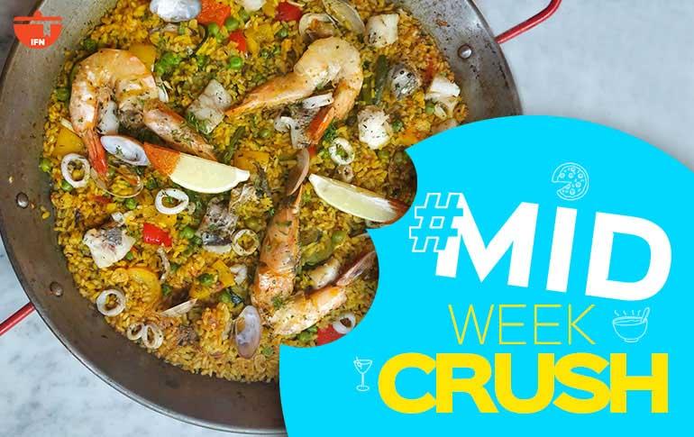Midweek Crush: Seafood Paella at Uno Más