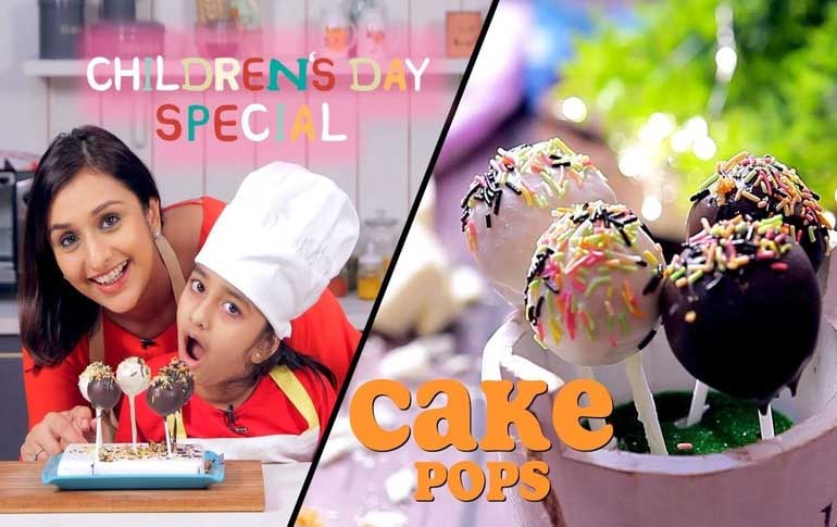 Childrens Day Special Cake Pops Recipe