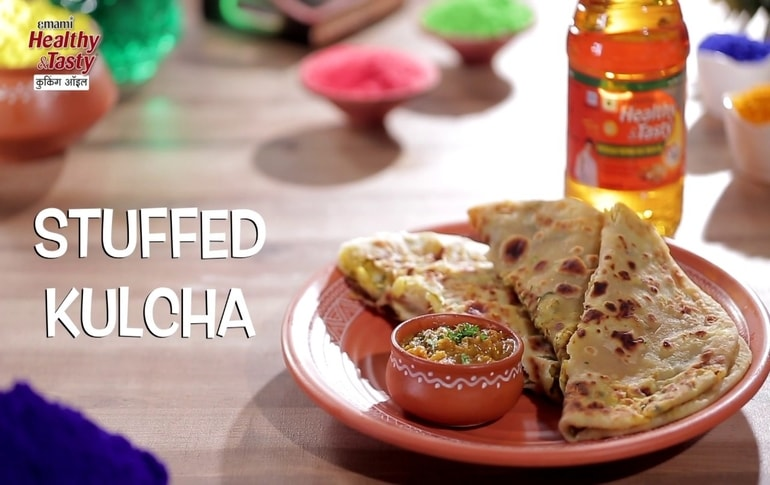 Quick And Easy Stuffed Kulcha Recipe By Harpal Singh Sokhi