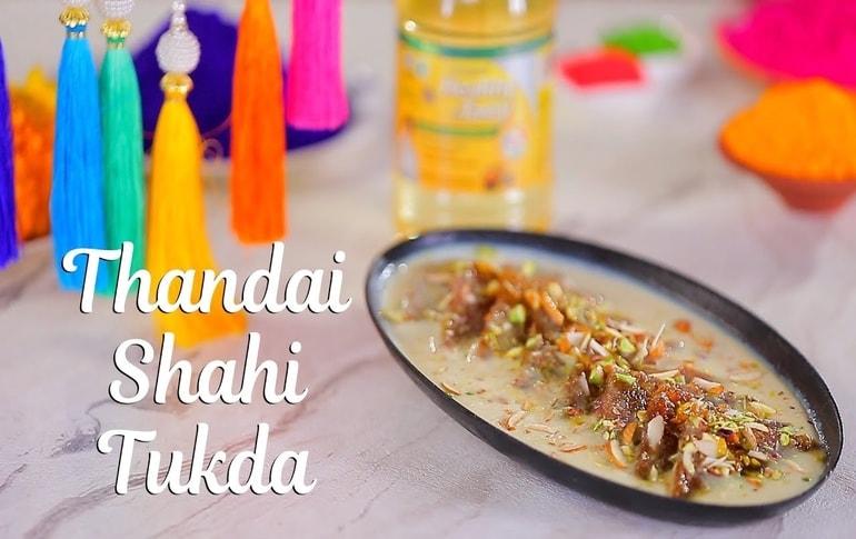 Thandai Shahi Tukda Recipe By Harpal Singh Sokhi