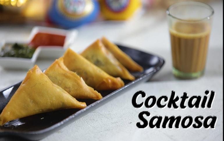 Cheesy Cocktail Samosa By Megha Joshi