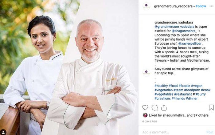 Chef Shagun Mehra_Chef Xavier Pellicer_Four Hands Menu_Barcelona