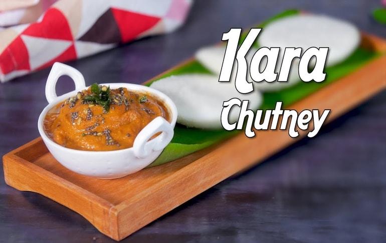 South Indian Style Kara Chutney Recipe By Preetha