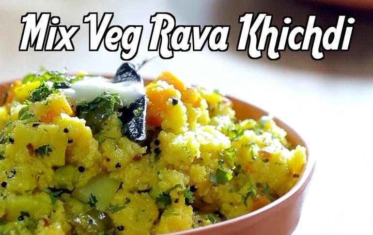 Mix Veg Rava Khichdi Recipe By Geetha Sridhar