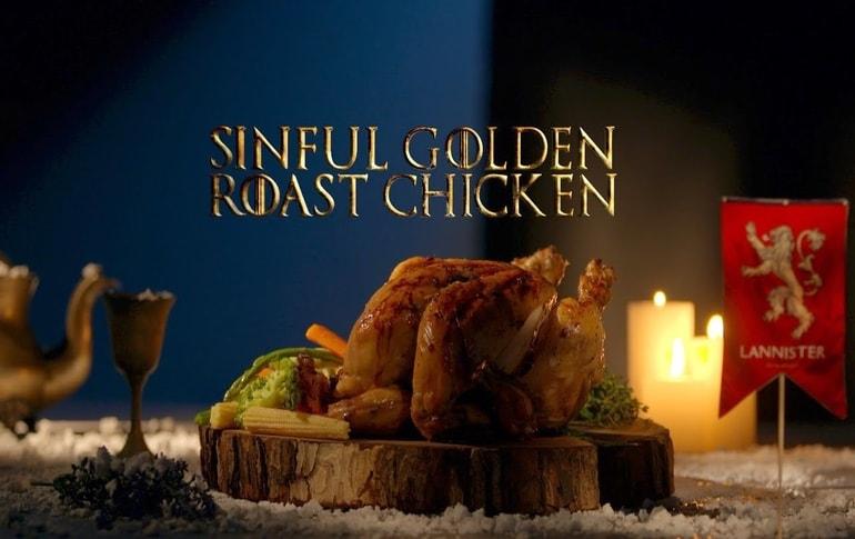 Sinful Golden Roast Chicken GoT8 Recipe